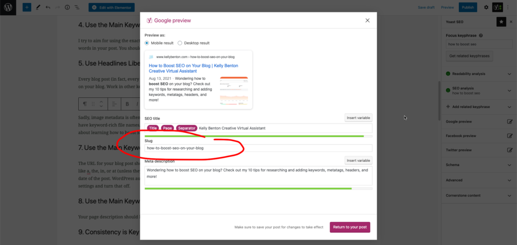how to boost seo on your blog using custom urls